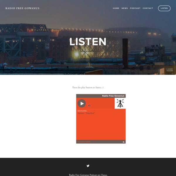 Listen — Radio Free Gowanus