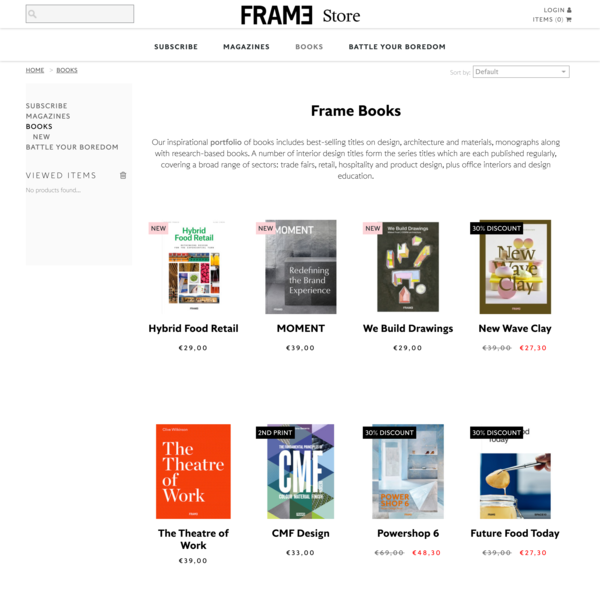 The Official Frame Store | Books | Shop Titles