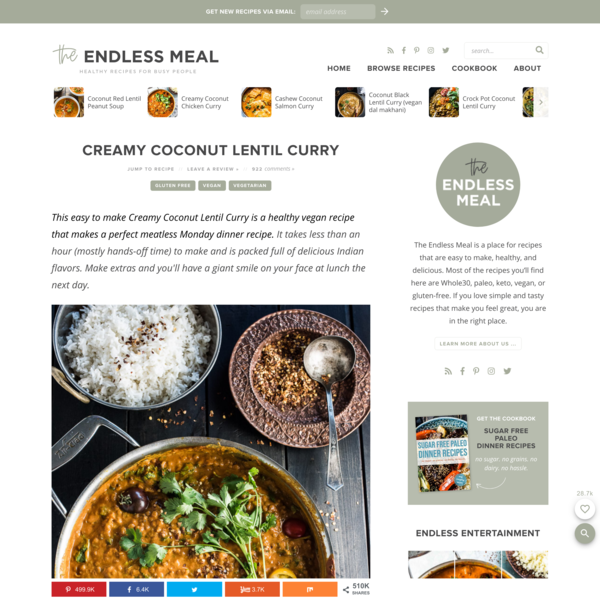 Creamy Coconut Lentil Curry | The Endless Meal®