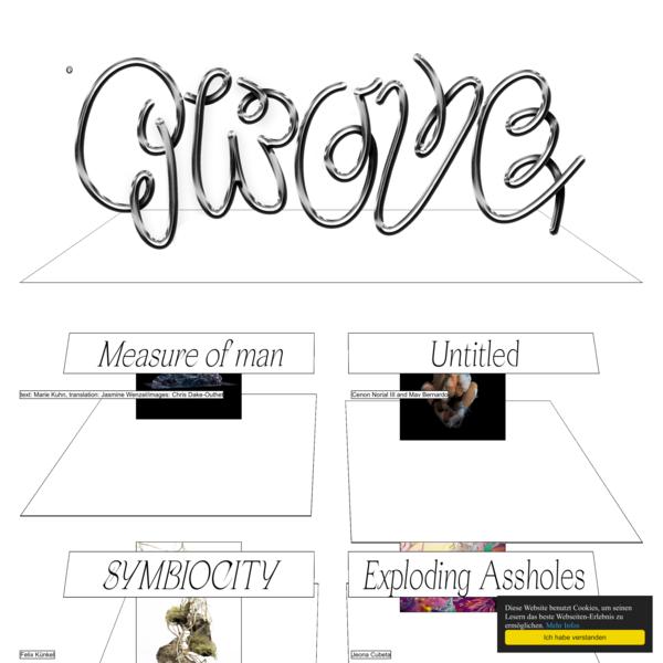 Website for GROVE Journal   Home