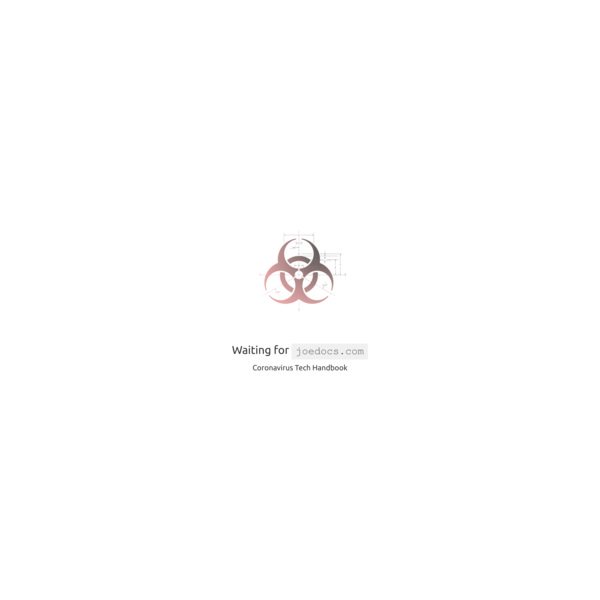 Remote | Coronavirus Tech Handbook