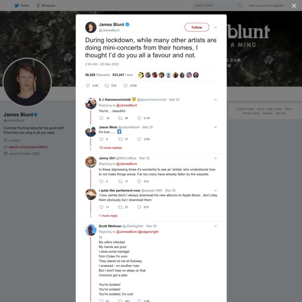 James Blunt on Twitter