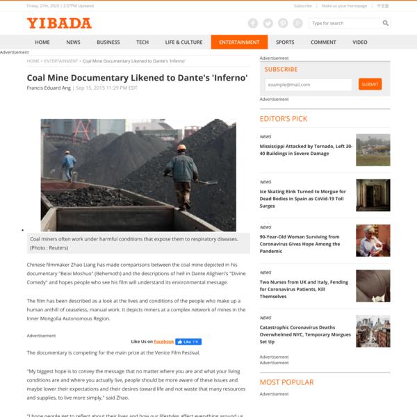 Coal Mine Documentary Likened to Dante's 'Inferno'