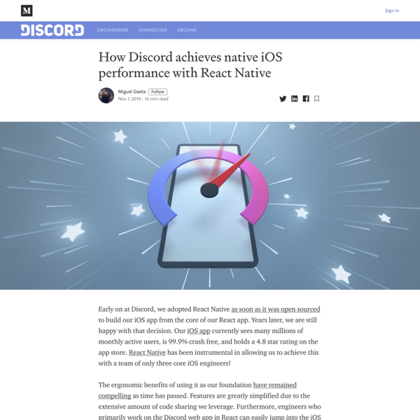 How Discord achieves native iOS performance with React Native