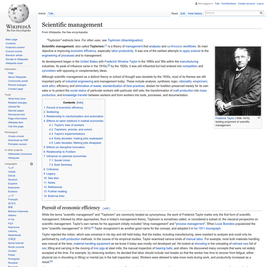examples of scientific management in today s industry