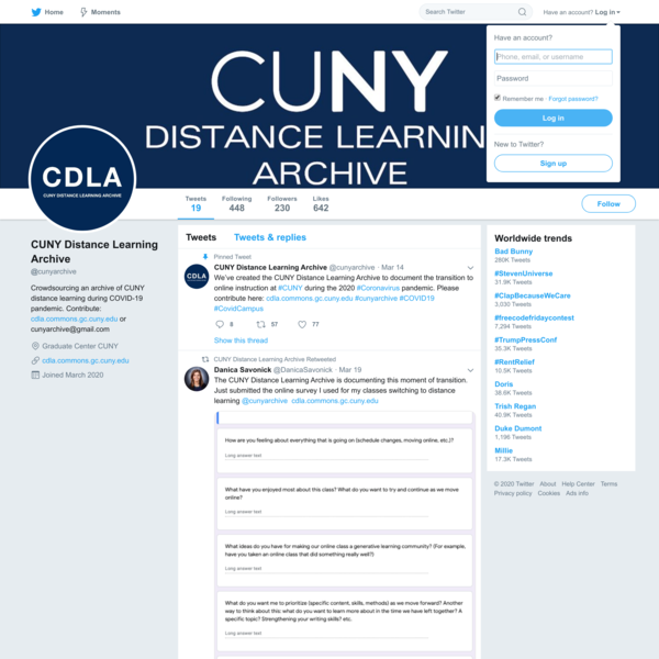CUNY Distance Learning Archive (@cunyarchive) | Twitter