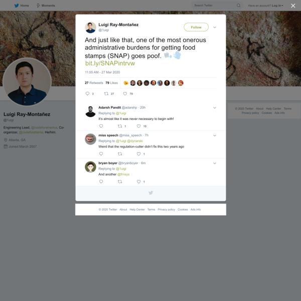 Luigi Ray-Montañez on Twitter