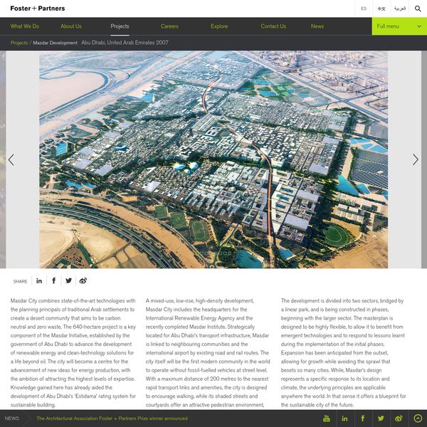 Masdar Development | Foster + Partners