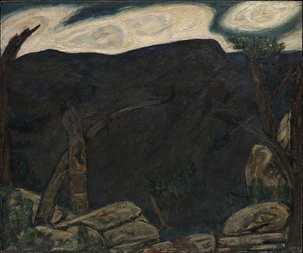 Marsden Hartley, The Dark Mountain, No. 2 1909