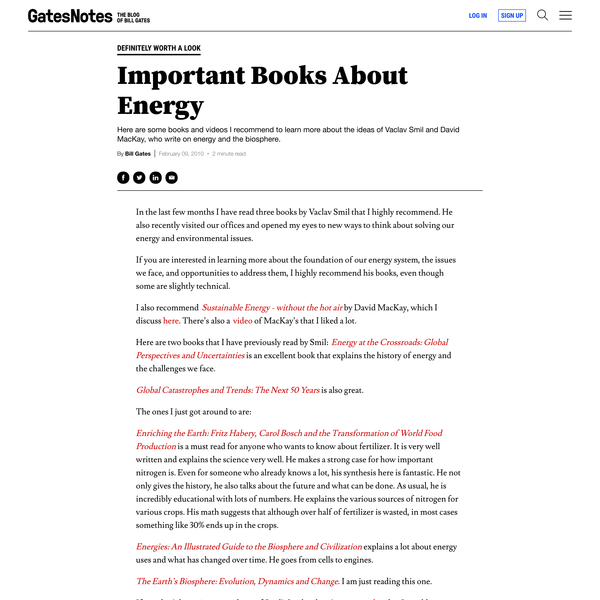 Important Books About Energy