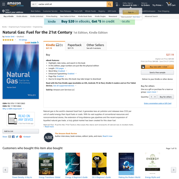 Natural Gas: Fuel for the 21st Century 1st Edition, Kindle Edition