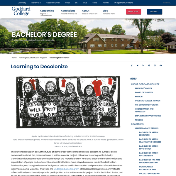 Learning to Decolonize - Goddard College