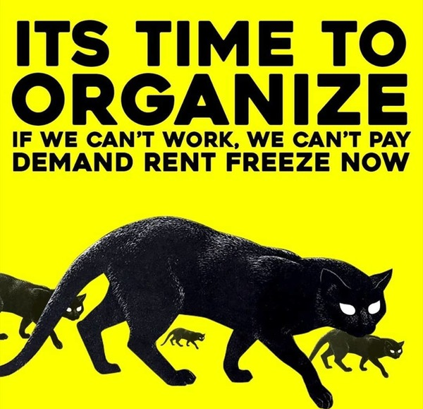 "Industrial Workers of the World: ""We support all of those who will be going on Rent strike on April 1st! #solidarityforever #rentstrike #1u #iww"""
