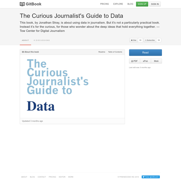 This book, by Jonathan Stray, is about using data in journalism. But it's not a particularly practical book. Instead it's for the curious, for those who wonder about the deep ideas that hold everything together.