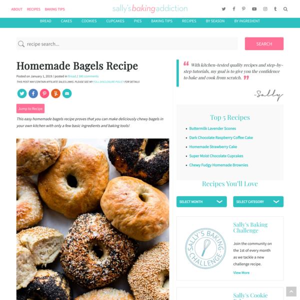 Homemade Bagels Recipe | Sally's Baking Addiction
