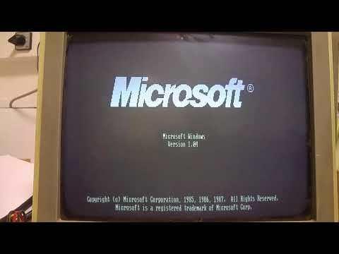 Windows1 (1985) PC XT Hercules