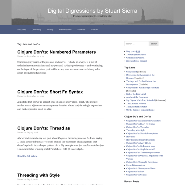 do's and don'ts – Digital Digressions by Stuart Sierra