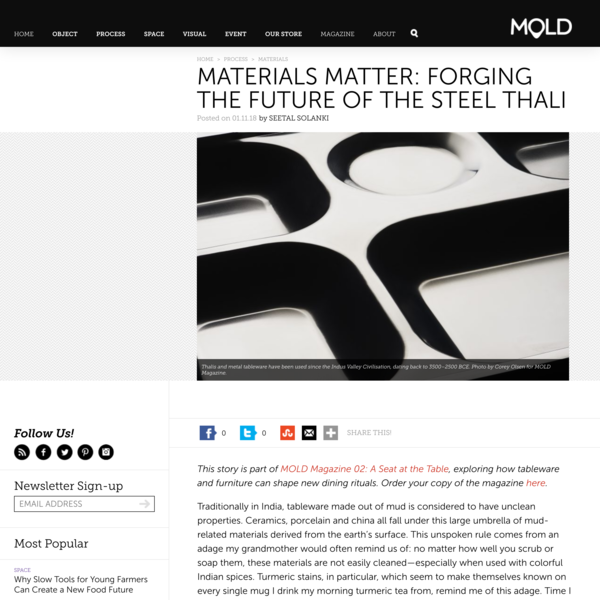 Materials Matter: Forging the Future of the Steel Thali