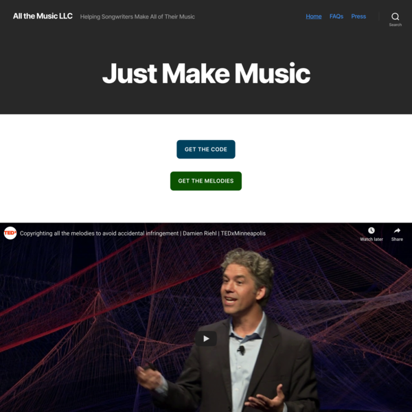 All the Music LLC – Helping Songwriters Make All of Their Music