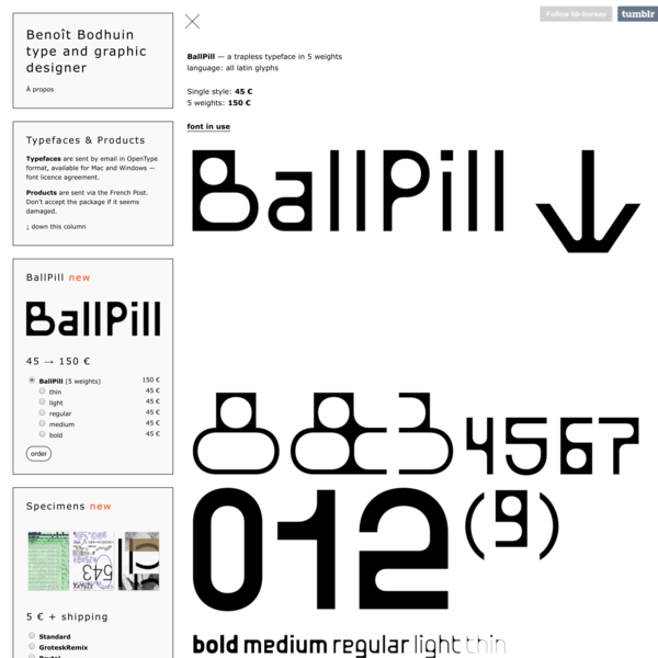 benoît bodhuin — visual research, type design and teaching