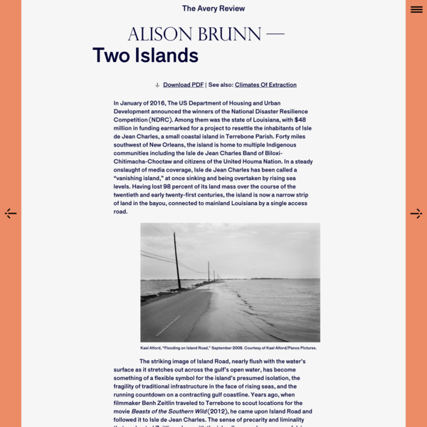The Avery Review | Two Islands