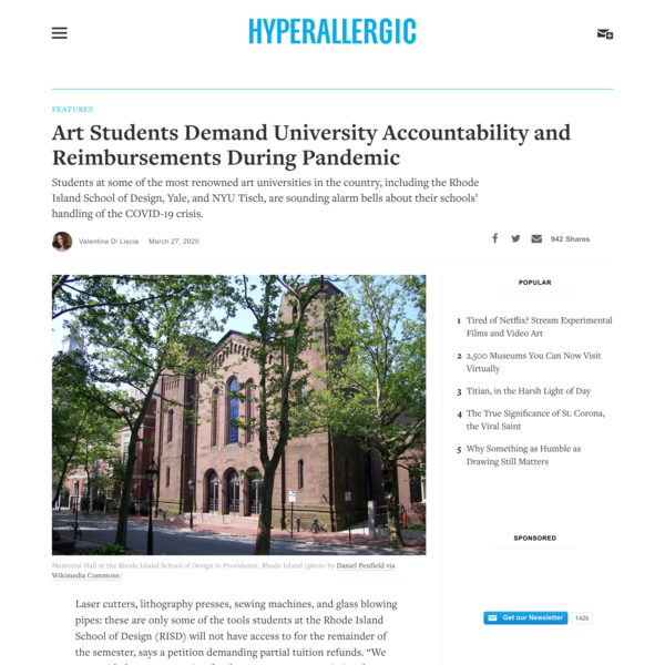 Art Students Demand University Accountability and Reimbursements During Pandemic