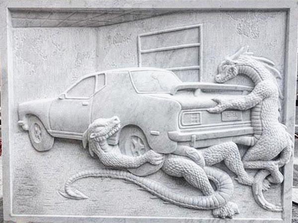 Jon Rafman, Dragons Fucking Car I