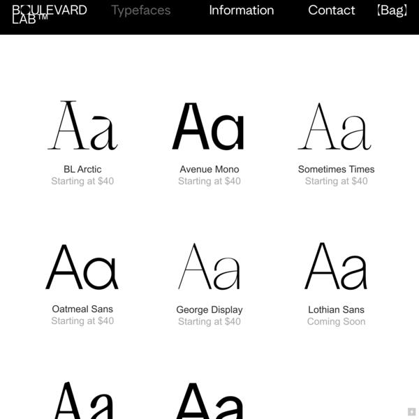 Typeface Lab — Boulevard LAB