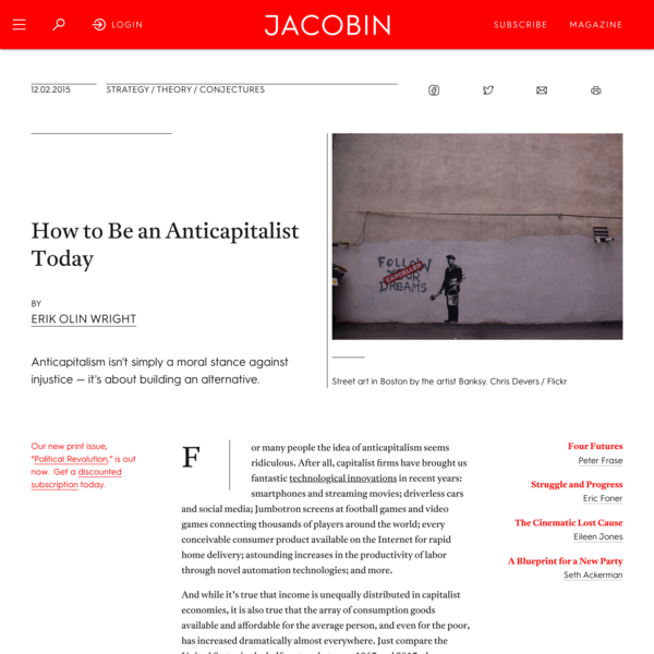 How to Be an Anticapitalist Today