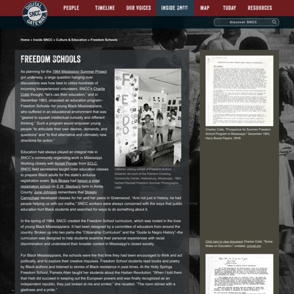 Freedom Schools - SNCC Digital Gateway