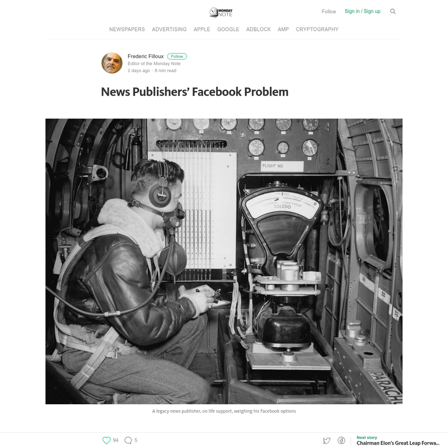News Publishers' Facebook Problem No one seems happy with Facebook's recent algorithm change. The anger is growing among those who put too much faith in the giant social network's ability to monetize news content. June 29 2016 should have been a bad day for several news publishers' stocks.
