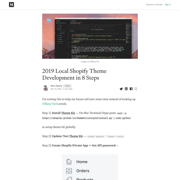 2019 Local Shopify Theme Development in 8 Steps