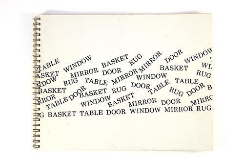 """""""Basket, Table, Door, Window, Mirror, Rug: 53 Drawings,"""" (1976)"""