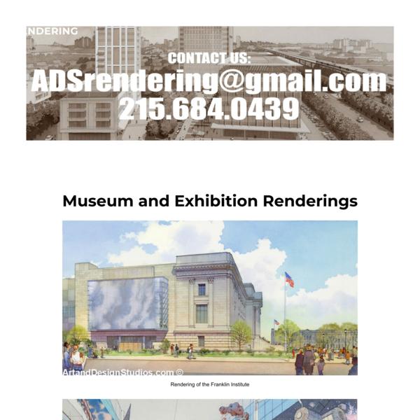 Architectural Renderings   Museum and Exhibition Rendering Portfolio