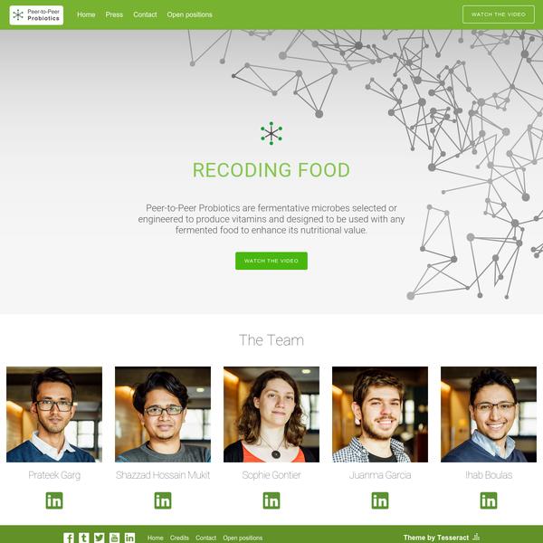 Peer-to-Peer Probiotics - Recoding food