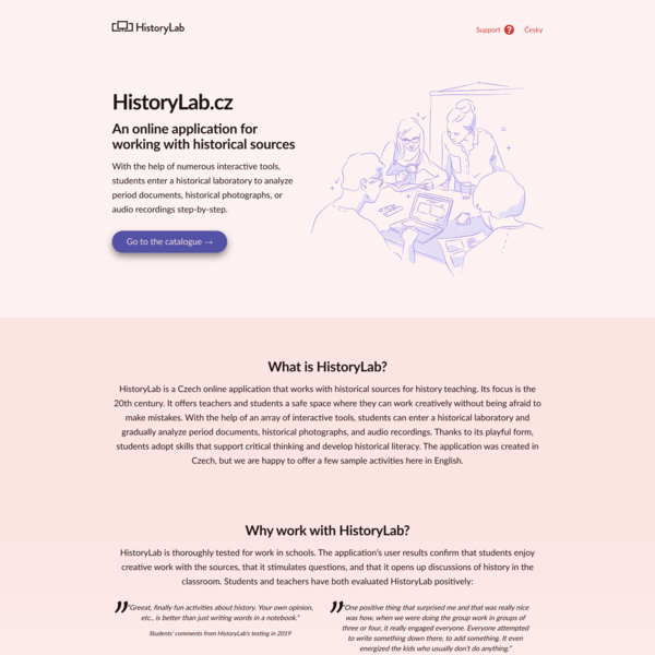 HistoryLab.cz — Web application that works with historical sources