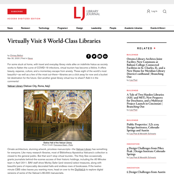 Virtually Visit 8 World-Class Libraries