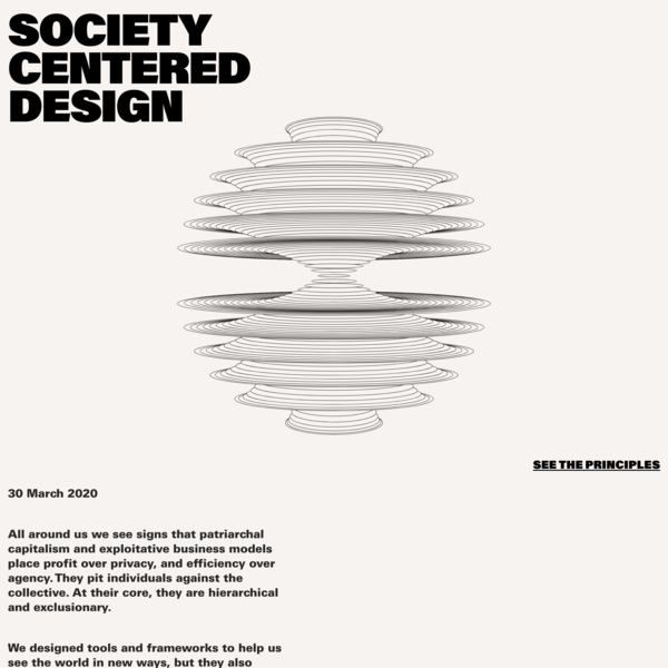 Society Centered Design