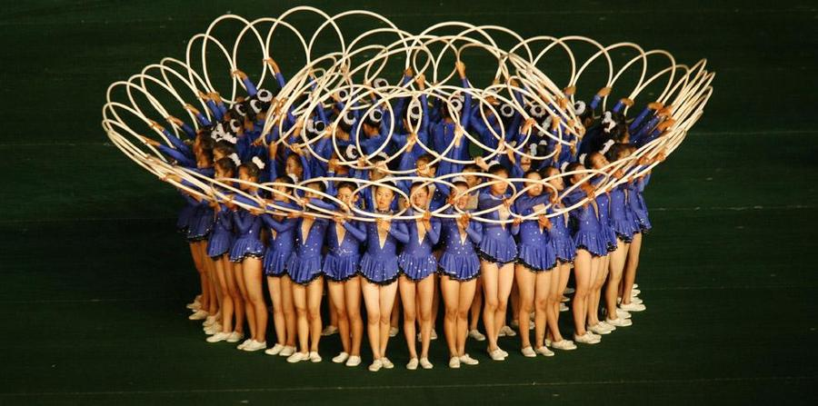 North Korean Gymnastic Hoola Hoops