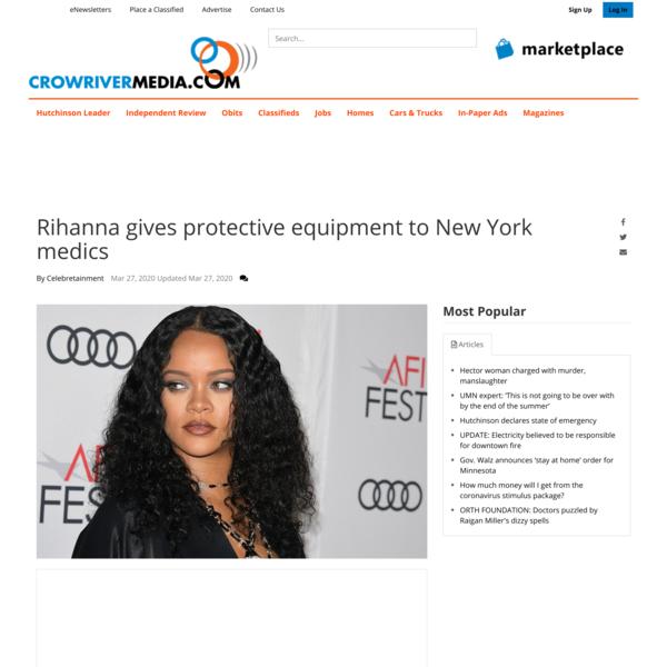 Rihanna gives protective equipment to New York medics