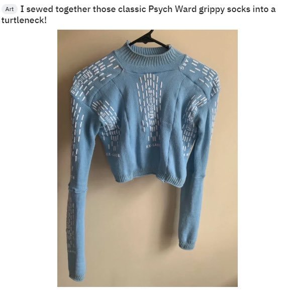 Psych Ward Sock Sweater by Lucinda