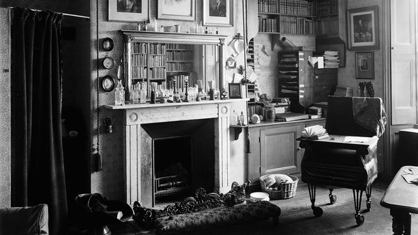 Interior of Charles Darwin's study with his self-designed chair © Wellcome Collection