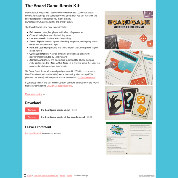 The Board Game Remix Kit by Board Game Remix Kit