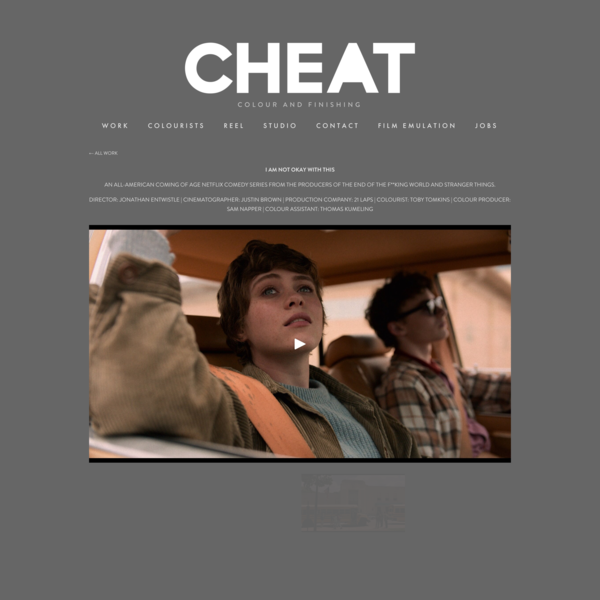 I AM NOT OKAY WITH THIS | TV SERIES — CHEAT