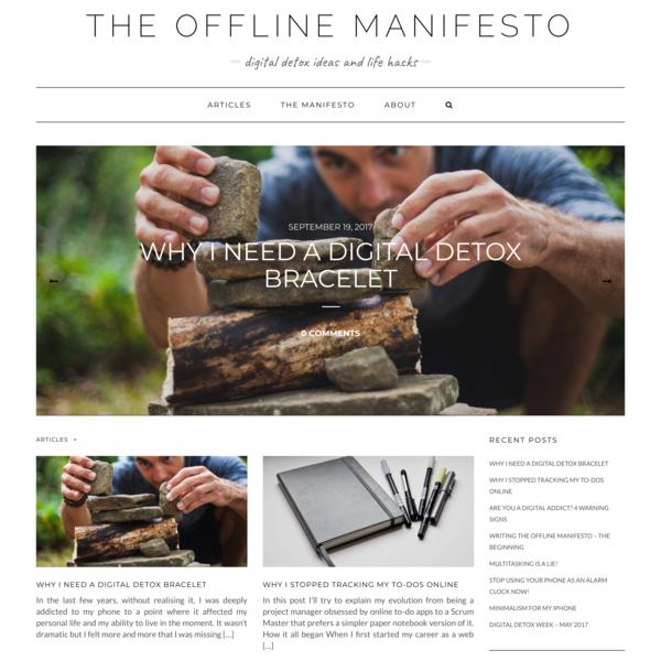 The Offline Manifesto - Digital detox ideas and life hacks