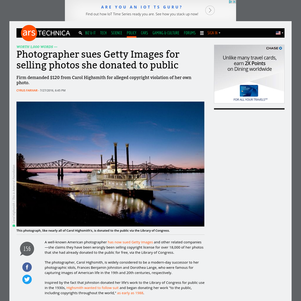 Photographer sues Getty Images for selling photos she donated to public