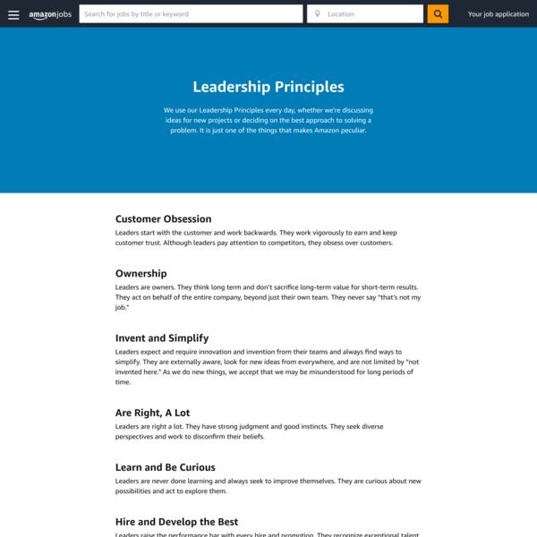 Amazon's global career site