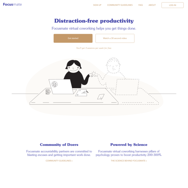 Focusmate - Distraction-Free Productivity