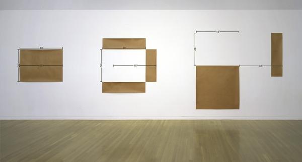 """Mel Bochner, 48"""" Standards: Set A (Installation), 1969"""