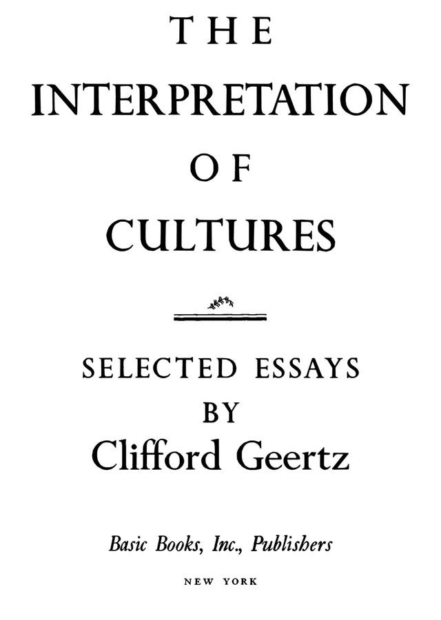 culture essay interpretation selected